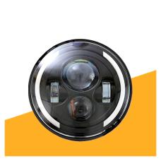 Универсальные светодиодные Bi LED Фары 7 дюймов 40W с линзой, ДХО и поворотами