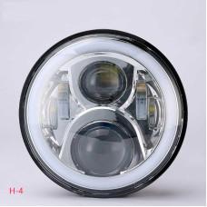 Универсальные Bi LED Фары 7 дюймов с ДХО Хром