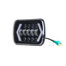 Универсальные Bi LED Фары прямоугольные с Ангельскими глазками 60W