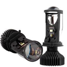 Мини линза светодиодной led лампы H4, 90Вт